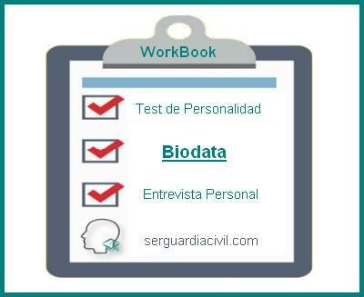 WorkBooks Biodata Ser Guardia Civil